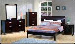 Urban Collection Deep Rich Cappuccino Finish Platform Bedroom Set - 200300