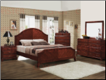 6 Piece Gohman Bedroom Set in Antique Cherry Finish by Coaster - 201671