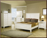 Coaster Sandy Beach Bedroom Set in White CO-201301-SET
