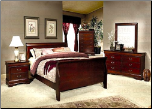 Louis Philippe Youth Bedroom Set in Cherry Finish by Coaster - COA-200431T