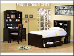 Phoenix Collection Bedroom Furniture Set with Chest Bed in Rich Deep Cappuccino Finish by Coaster - 400180