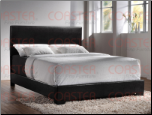 Upholstered Beds Contemporary Queen Upholstered Platform Bed 300260Q