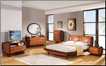 3103 - King Modern Design and Unique Euro Style Wooden Bedroom Set By Global Furniture