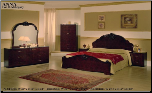 ANNA RADICA/MAHOGANY  BEDROOM SET BY GLASS-FORM COLLECTION