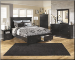 B138 Ashley Marible Black Bedroom Set