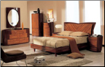 Queen - Two-Tone Wooden Bedroom Group with Oval Shaped Casegoods by Global USA