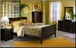 Contemporary Merlot Finished Bedroom Set with Satin Nickel Accents, 'Syracuse' Collection by Homelegance.