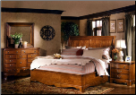 Americana Medium Brown Sleigh Bedroom Set