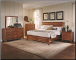 Willow Creek Bedroom Set with Panel Bed in Black Finish - 201321