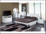 Global Furniture USA Master Bedroom Set EMILY-WHITE  Finish Contemporary Bedroom Set by Global Furnither USA (Full)