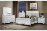 CATALINA METALLIC WHITE BEDROOM SET 5PC GLOBAL FURNITURE