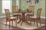 Oak Finish Round Dining Table - Coaster 101091 (SKU: CO-101091)