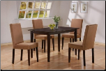 Deep Cappuccino Finish Dinette W/Microfiber Chairs