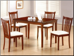 Tobacco Finish 5pc Dining Set - Coaster 150091 (SKU: CO-150091)