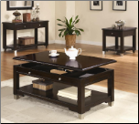 Liberty Transitional Rectangular Lift Top Cocktail Table Set  with Shelf by Coaster (SKU: CO-701198-CTS)