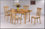 5 PCS  - Dinning Set in Maple / Natural by Coaster