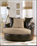 Logan - Stone Oversized Swivel Accent Chair (SKU: CO-53600)