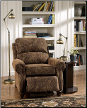 Deanville - Antique Low Leg Recliner with Rolled Arms and Nail Head Detailing by Signature Design by Ashley (SKU: AB - 51402)