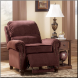 Hawkins - Cinnamon Traditional Low Leg Recliner with Nailhead Trim by Signature Design by Ashley (SKU: AB-733025-RR)