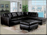 Espresso Bonded Leather Match Sectional Set