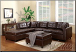 Milano Brown Bonded Leather Match Sectional Set (SKU: AC-  50090 SET)