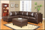Lisbon Espresso Bycast PU Sectional Set (SKU: AC-  50190 SET)