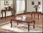 Cherry Finish 3Pc Coffee / End Table Set 10240 Set (SKU: AC-10240)