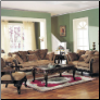 Bordeaux Chenille Fabric Sofa Set Acme 05600