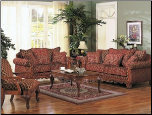 Floral Chenille Fabric Two-Tone Classic Living Room
