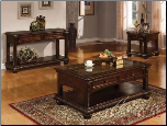 Cherry Finish 3Pc Coffee / End Table Set 10322 Set (SKU: AC-10322-CTS)