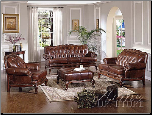 Tri-Tone 100% Leather Living Room  Set Acme 05945 (SKU: AC-05945)