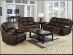 Caray Black Bonded Leather Sofa w/5 Recliners Set