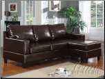 Vogue Espresso Bycast PU Sectional Sofa by Acme Furniture (SKU: AC- 15915)