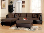 Acme Furniture Chocolate Easy Rider and Espresso Bycast Sofa 2 Piece 10110 Set