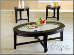 Acme Furniture Espresso Finish Occasional Table 3 piece 18458 set