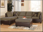 Acme Furniture Pebble Easy Rider and Espresso Bycast Sofa 2 Piece 00110A Set (SKU: AC-00110A-SET)
