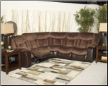 79202 Tafton - Java Double Reclining Sectional Loveseats with Wedge Signature Design by Ashley (SKU: AB- 79202SECSET)