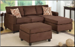 POUNDEX 3 PCS SECTIONAL S7661 CHOCOLATE (SKU: PXSS-S7661-SECTIONAL)