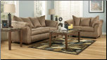 Darcy - Mocha Contemporary  Living Room Sofa  Set with Accent Pillows by Signature  Ashley