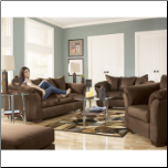 Darcy - Cafe Contemporary  Living Room Sofa  Set with Accent Pillows by Signature  Ashley