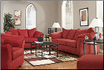 Darcy - Salsa Contemporary  Living Room Sofa  Set with Accent Pillows by Signature  Ashley (SKU: AB-75001-L-SET)