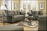 Darcy - Sage Contemporary  Living Room Sofa  Set with Accent Pillows by Signature  Ashley