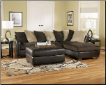 Vivanne - Chocolate Contemporary Sectional Sofa Set  by Ashley Furniture (SKU: AB-70415-SEC)