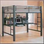 Bunks Workstation Full Loft Bed by Coaster