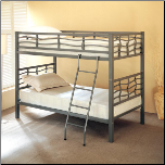 Bunks Twin Bunk Bed with Ladder by Coaster