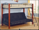 Haskell Metal and Wood Casual Twin over Futon Bunk Bed by Coaster
