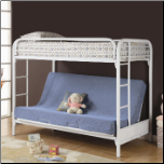 Fordham Twin Over Full Futon Metal Bunk Bed by Coaster