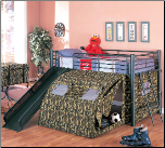 Oates Lofted Bed with Slide and Tent by Coaster (SKU: CO-7470)