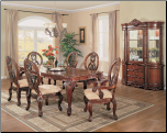 Classic Designed Dining Room Set with Double Pedestal Table, from Versailles Collection by Acme Furniture