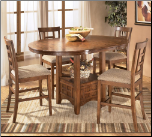 Ashley Furniture Cross Island 5-Piece Counter Height Ext Table Dining Set at SuperStore